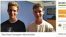 Go Fund Me-Page der Zwillinge: Freunde haben für die Familie Spenden gesammelt