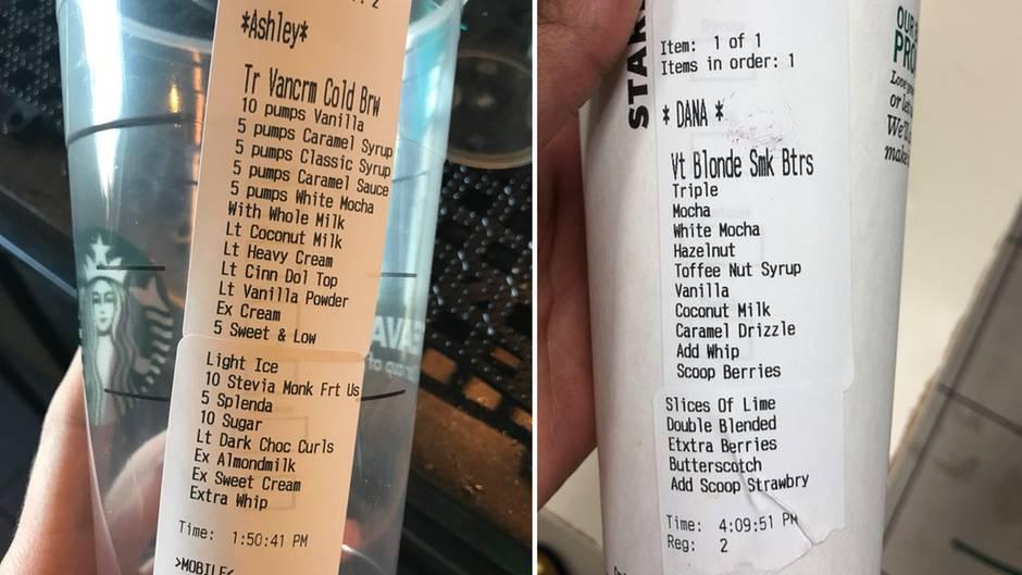 Ernsthaft?: Starbucks-Mitarbeiterin postet Foto von Bestellung - die könnte kaum absurder sein