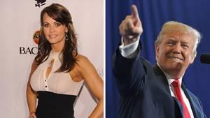 Das Playboy-Model Karen McDougal und US-Präsident Donald Trump
