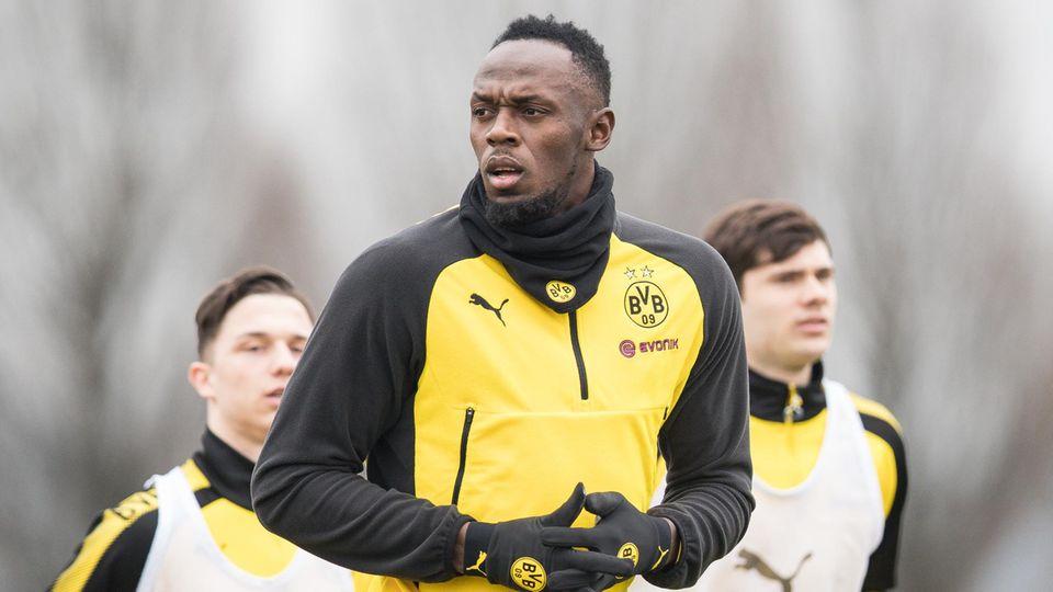 Usain Bolt trainiert beim BVB