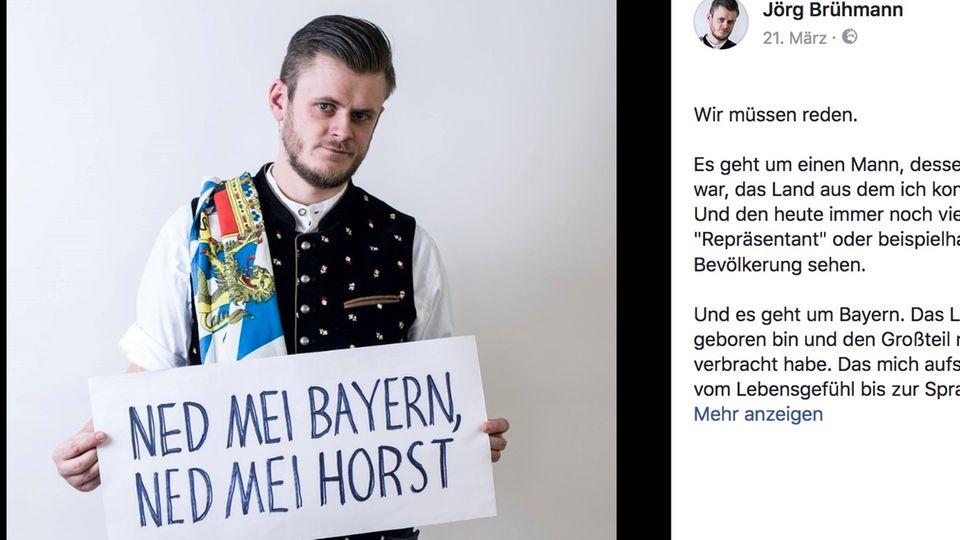 """CSU-Vorsitzender: Offener Brief auf Facebook: """"Sie, Herr Seehofer, sind nicht mein Bayern"""""""