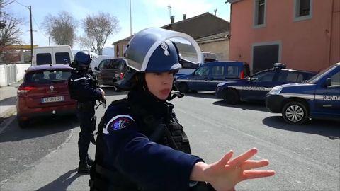 Geiselnahme in Südfrankreich: Die Polizei hat den Tatort weiträumig abgeriegelt.