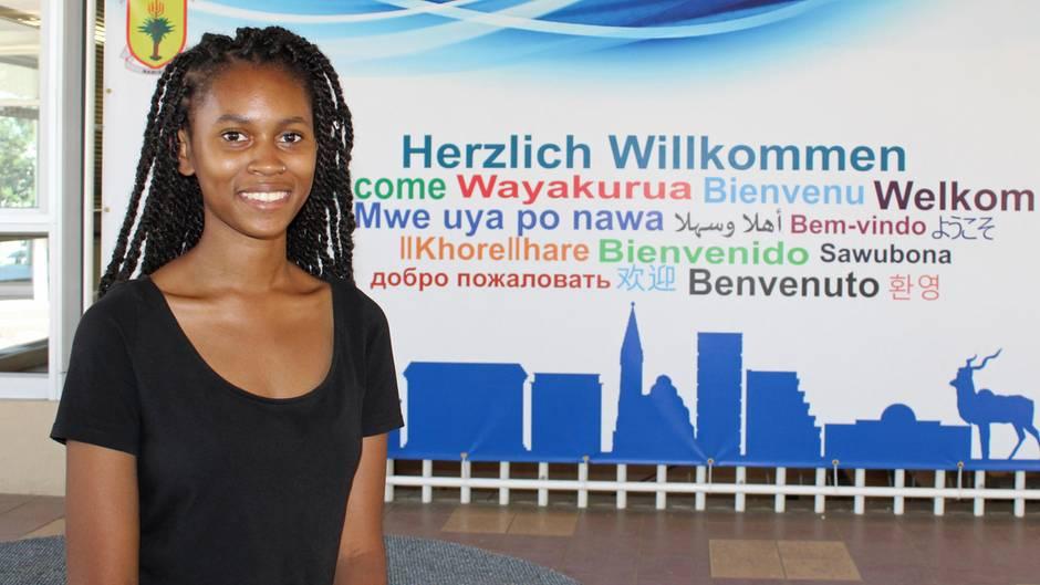 Eine Schülerin aus Namibia