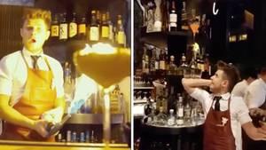 Andrei ist seit sieben Jahren Barkeeper - und hat sein Handwerk perfekt drauf