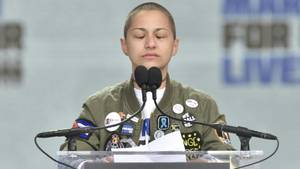 "Emma Gonzalez ist das Gesicht des Anti-Waffenprotestes in den USA unter dem Motto ""March for Our Lives"""