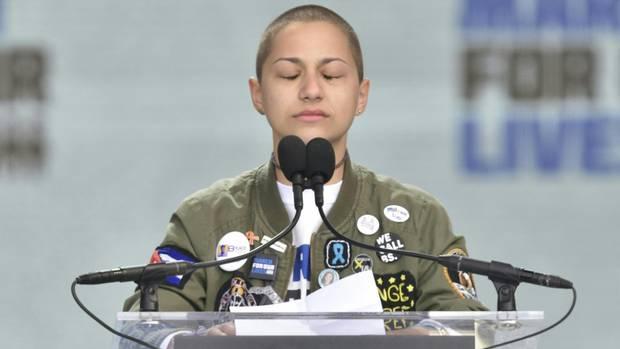 """Emma Gonzalez ist das Gesicht des Anti-Waffenprotestes in den USA unter dem Motto """"March for Our Lives"""""""