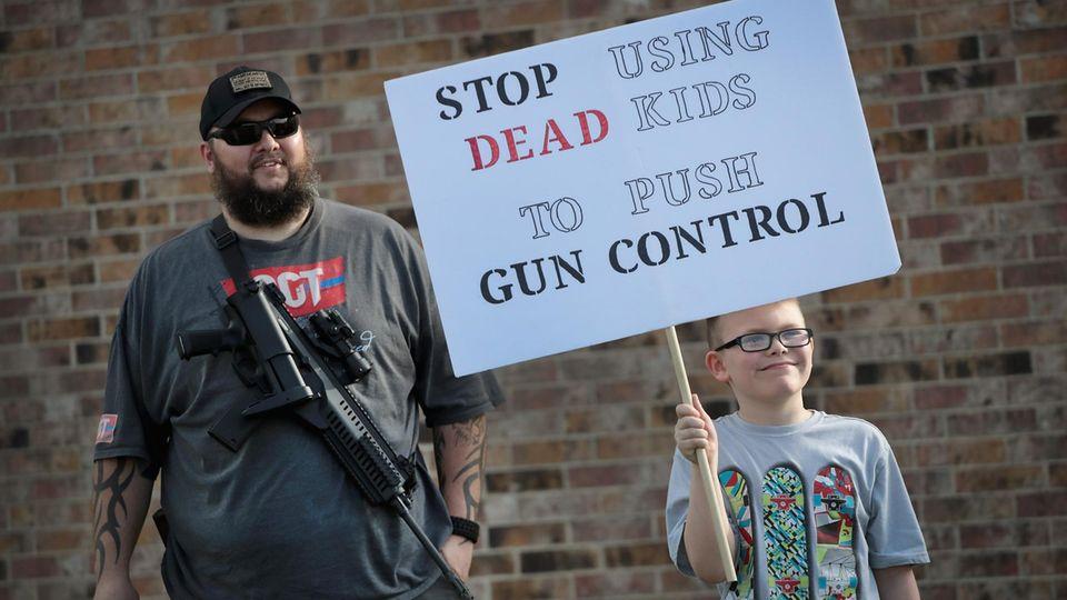 Anti-Anti-Waffenprotest in Texas