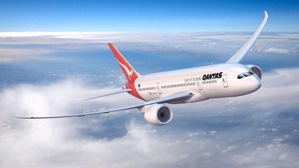 Eine Boeing 787 der australischen Qantas