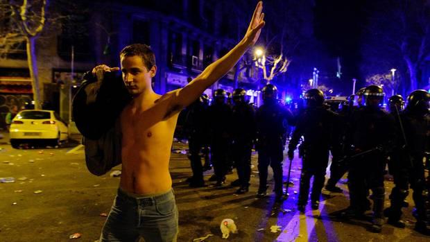 Proteste für ein freies Katalonien: In Barcelona gab es meherere Verletzte