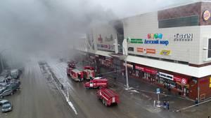 Unter den Opfer des Einkaufszentrumsbrands in Russland sollen viele Kinder sein