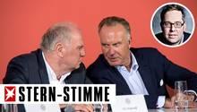 Uli Hoeneß und Karl-Heinz Rummenigge: Das Theater um Thomas Tuchel sagt viel aus über die unklare Zuteilung im Verein