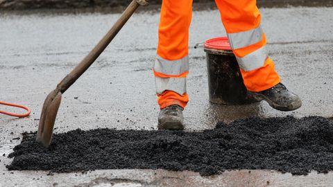 In Hamburg wird Schlacke unter anderem für den Straßenbau verwendet.