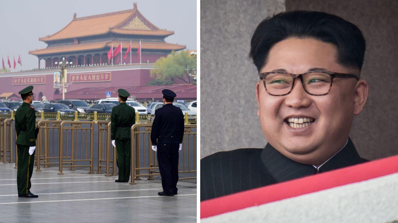 Nordkoreas Machthaber Kim Jong Un soll sich aktuell in Peking aufhalten.