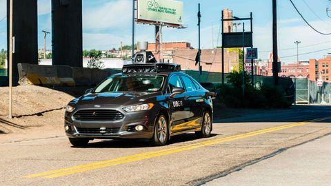 Uber-Roboterauto in Pittsburgh, Pennsylvania