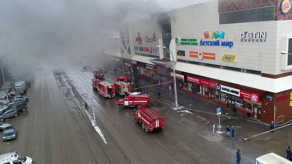 Brand Einkaufszentrum Sibirien