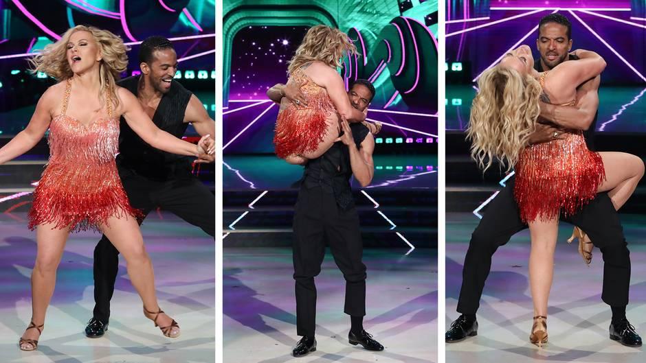 """Blitzer mit Glitzer(kleid): Anastacia zeigt vollen Körpereinsatz beim italienischen """"Let's Dance"""""""