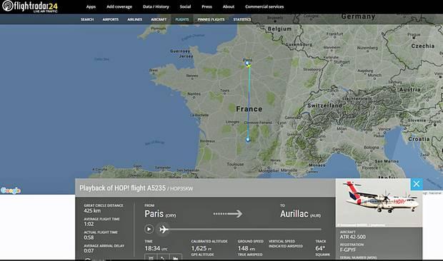 Der Zwischenfall der französische Regionalfluggesellschaft Hop! ereignete sich am 25. März auf dem Flug von Paris nach Aurillac.