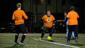 In England gibt es eine Fußballliga speziell für Dicke