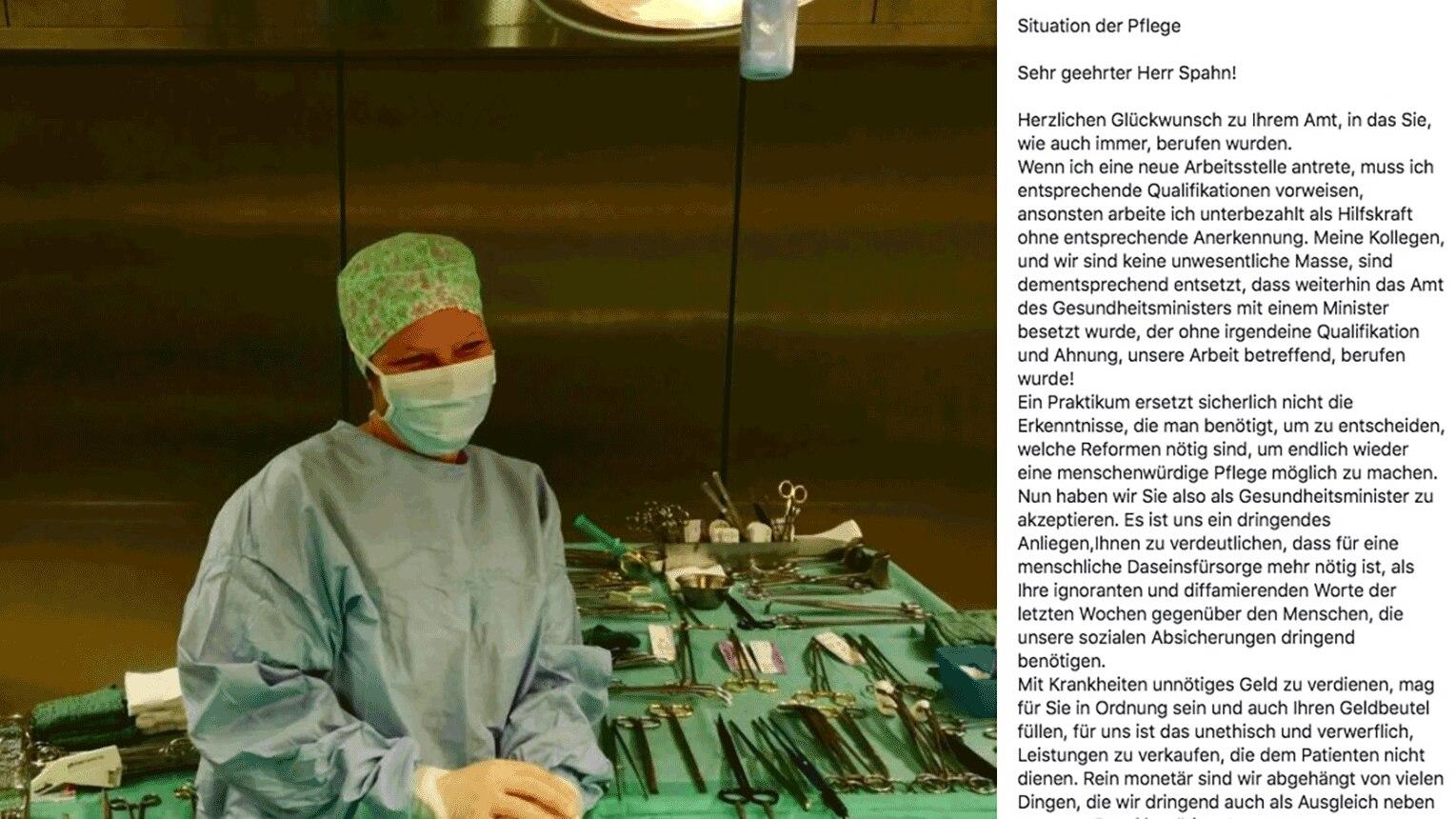 Jens Spahn Krankenschwester Kritisiert Cdu Mann In Offenem Brief