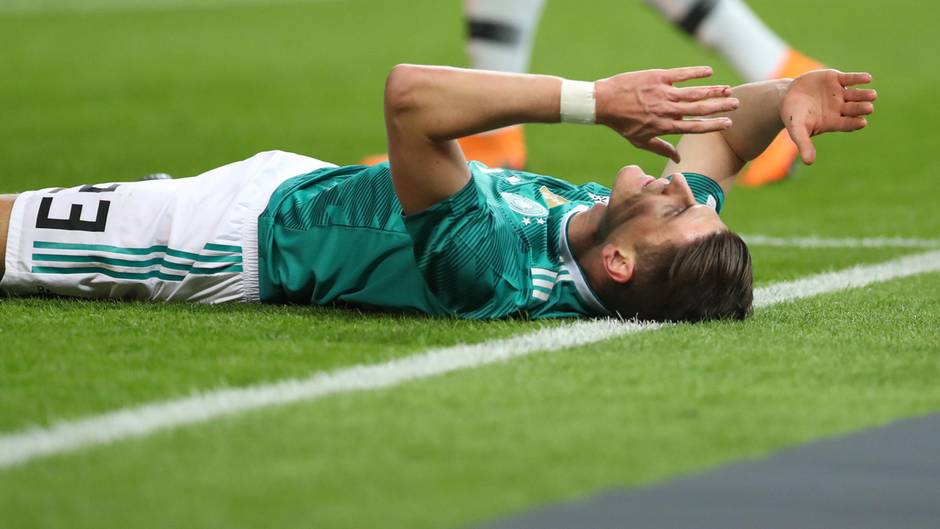 Deutschlands Mario Gomez beim Länderspiel Deutschland gegen Brasilien