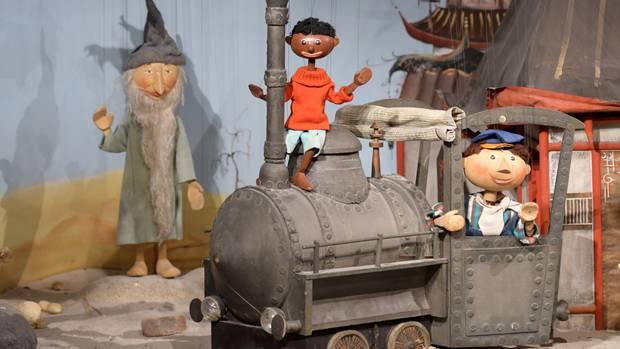 Eine Szene aus der Augsburger Puppenkiste aus den 1970er Jahren