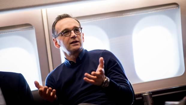 Heiko Maas reist mit einem Airbus der Luftwaffe in die USA.