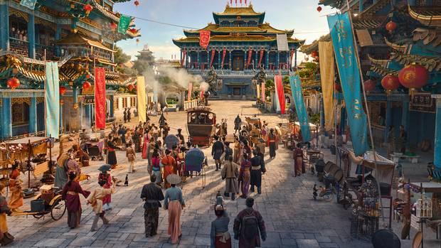 Ankunft der Helden in Mandalas Hauptstadt Ping