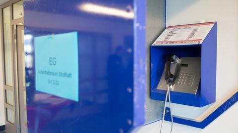 Ein Telio-Apparat in einer Haftanstalt