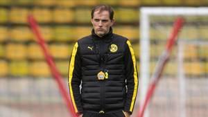 Thomas Tuchel im BVB-Dress auf dem Trainingsplatz