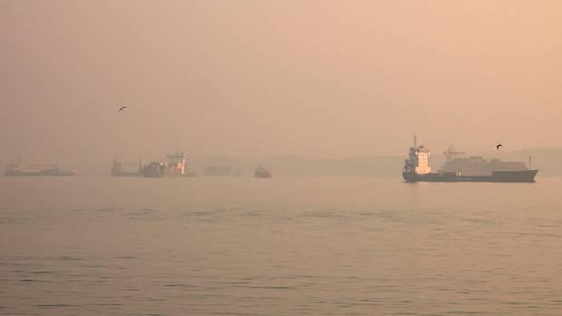 Schiffe am Nord-Ostsee-Kanal