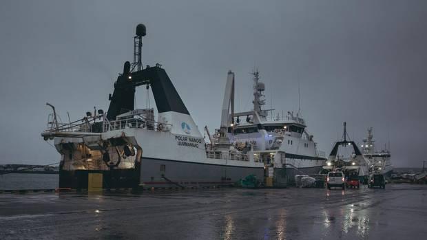 """Ein Schiff aus Grönland: Der Fischtrawler """"Polar Nanoq"""" landete häufig im Hafen von Hafnarfjörður an"""