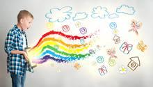3D-App: Dieser kleine Junge malt sich die Welt wie sie ihm gefällt