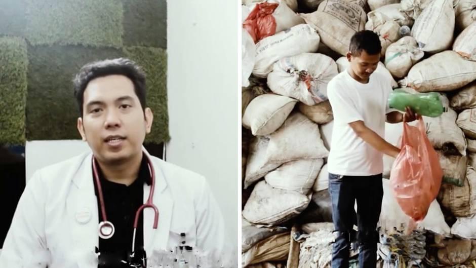 Sozialer Tausch: Bei diesem Arzt bezahlen die Patienten mit Plastikflaschen