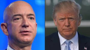 Combo: Amazon Chef Jeff Bezos und US-Präsident Donald Trump