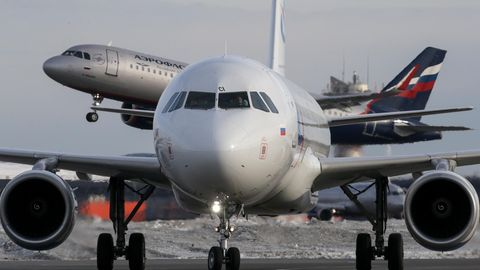 Ein Flugzeug der Aeroflot.