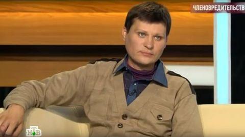 Moskau: Ewgenij Sapaew erzählt in einer TV-Talk-Show von seiner eigenhändigen Penis-Imputation