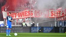 Rausch-Schwaden im Kölner Fanblock in Hoffenheim - Gladbach-Fans wollten Kölner Banner stehlen
