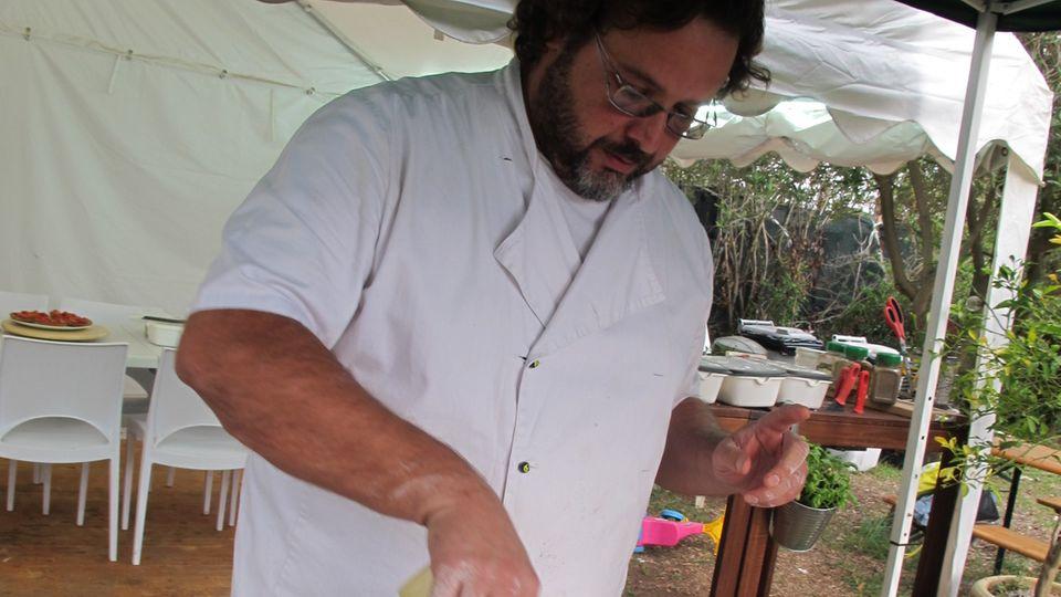 Pizzabäcker Giuseppe de Rosa