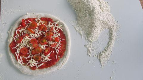 Eine Pizza Margarita