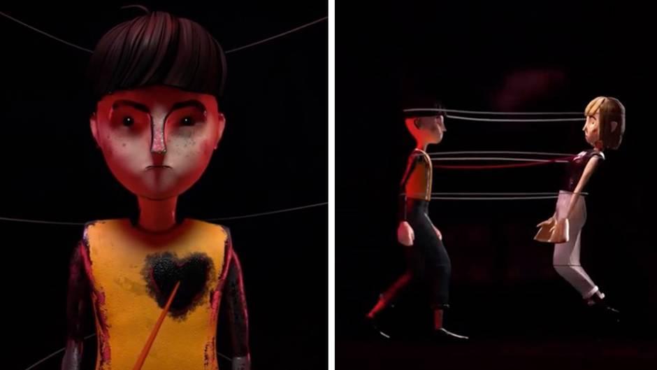Animation: Gegen häusliche Gewalt: Polizei Dorset zeigt beeindruckende Warn-Videos