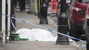 Ein Tatort im Londoner Stadtviertel Greenwich: Ein 31-Jähriger wurde hier Mitte Juli vergangenen Jahres erstochen