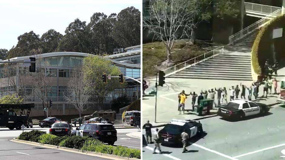 Kalifornien: Schüsse in Youtube-Zentrale: Augenzeuge filmt dramatische Evakuierung