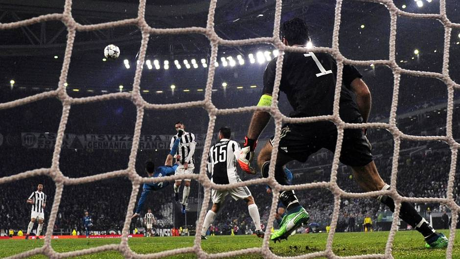 Cristiano Ronaldo bei seinem 119. Tor in der Champions League