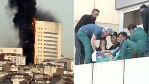 Krankenhaus in Istanbul steht in Flammen