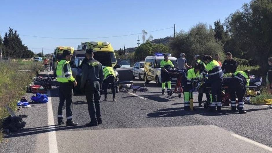 Die Unfallstelle im Nordosten Mallorcas
