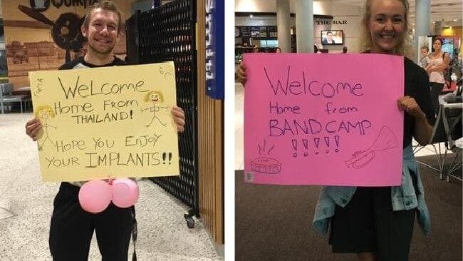 Fernbeziehung: Robyn und Crin malen peinliche Schilder für den Flughafen