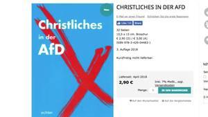 Christliches in der AfD: Der Inhalt dieses Buches ist lustiger, als man annehmen würde