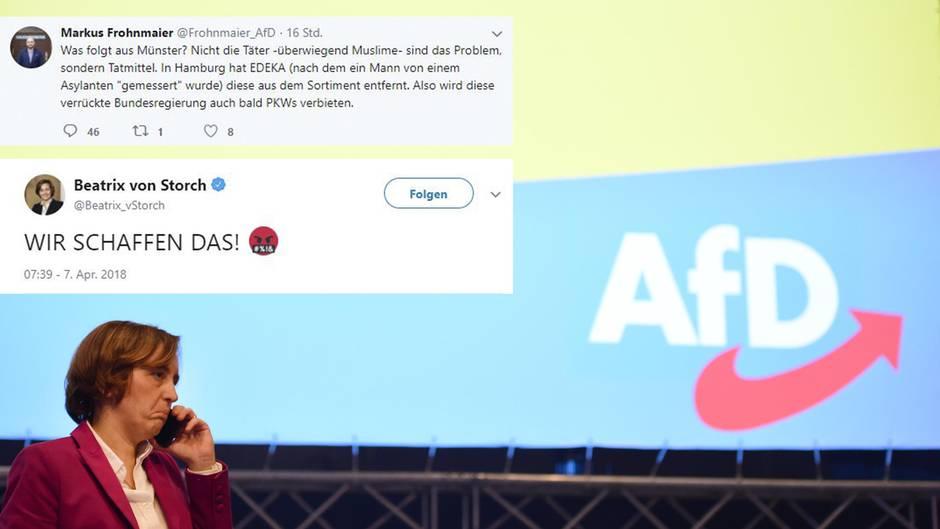 Meuthen kritisiert von Storch für Tweets nach Amokfahrt