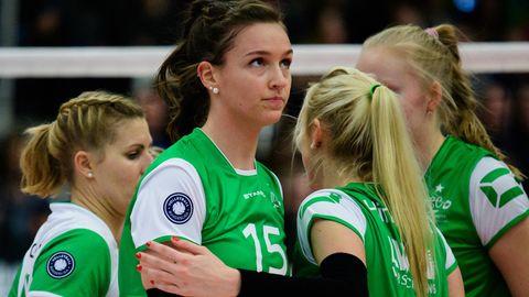 Chiara Hoenhorst trägt beim USC Münster die Nummer 15