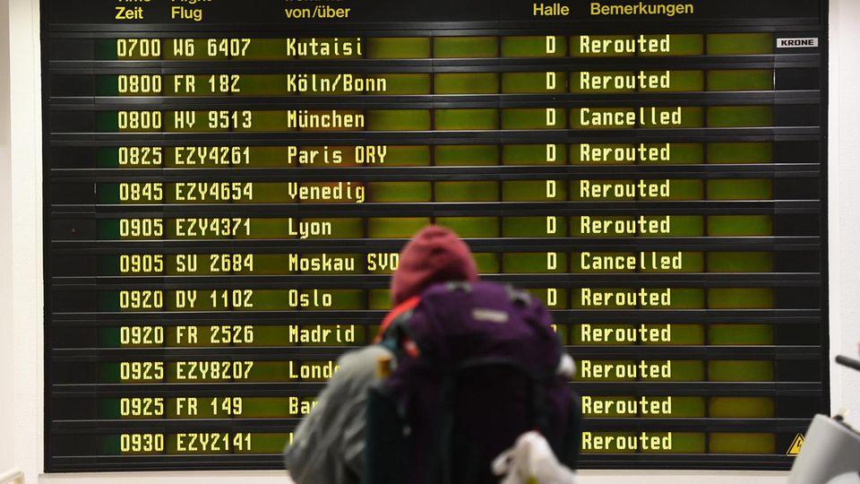 Verdi-Streik an vier deutschen Flughäfen